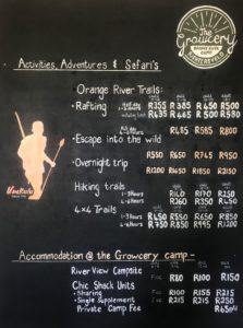 Orange River Camping and Prices